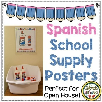 Spanish School Supply Posters