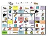 Spanish School Vocabulary Board Game