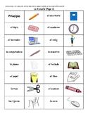 Spanish School Vocabulary Dominoes