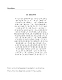Spanish School Vocabulary Word Search/buscapalabras