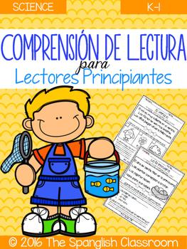 Comprensión de Lectura para Lectores Principiantes- Science