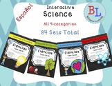 Spanish Science Task Cards / Tarjetas con preguntas de Ciencias