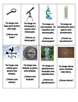 Spanish Scientific Vocabulary Game - Go Fish