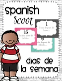 Spanish Scoot Game to reinforce days of the week (días de