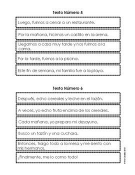 Spanish Scrambled Paragraph Writing Activity