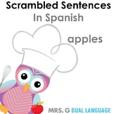 Scrambled Sentences in Spanish: Apples