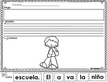 Scrambled Sentences in Spanish: School