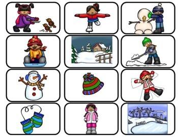 Spanish Scrambled Sentences: Winter             El invierno: Oraciones mezcladas
