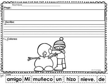 Scrambled Sentences in Spanish: Winter
