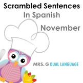 Scrambled Sentences in Spanish: November