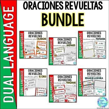 Spanish Scrambled Sentences: Writing About Series BUNDLE
