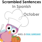 Scrambled Sentences in Spanish: October