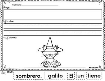 Scrambled Sentences in Spanish: October