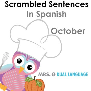 Spanish Scrambled Sentences for October