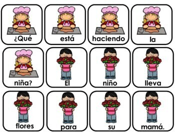 Spanish Scrambled Sentences for Valentine's Day