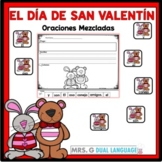 Scrambled Sentences in Spanish: Valentine's Day