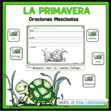 Scrambled  Sentences  in Spanish: Spring