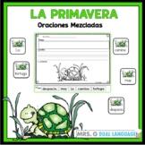 Scrambled  Sentences  in Spanish: Spring