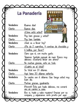 Spanish Script: La Panaderia/ Bakery