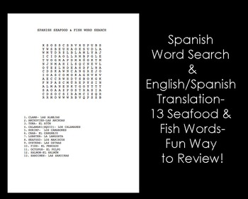 Spanish- Seafood & Fish