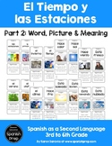 Spanish Seasons and Weather: Word, Picture & Meaning