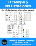 Spanish Seasons and Weather: Flashcards & Team Tournament
