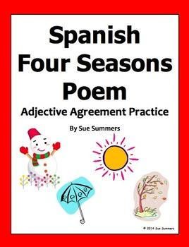 Spanish Seasons Bilingual Poem and Activities