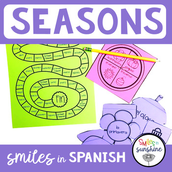 Spanish Seasons: Board Game and Interactive Notebook