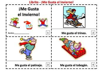 Spanish Seasons Emergent Reader Booklet Bundle - 4 Sets of 2 Booklets