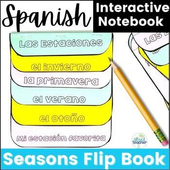 Spanish Seasons Las Estaciones Flip Book