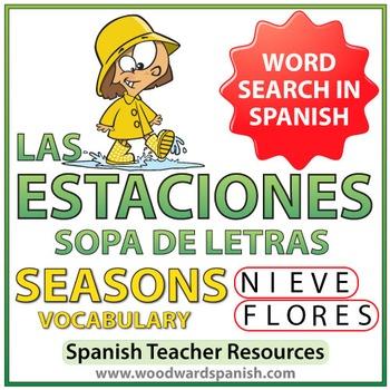 Spanish Seasons Word Search - Las Estaciones - Sopa de Letras