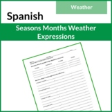 Spanish Seasons, Months with Weather Expressions  (Meses,
