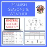 Spanish Seasons and Weather Digital, Google Slides™ Vocabulary Activities
