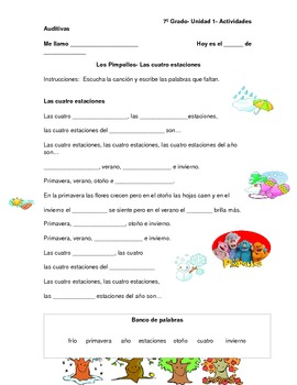 Spanish Seasons and Weather - Los Pimpollos Seasons and We
