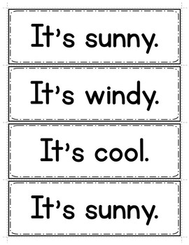 Spanish Seasons and Weather: Word Wall in English