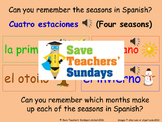 Spanish Seasons & weather Lesson plan, PowerPoint (with audio) and More ...