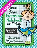 Spanish Second Grade Math Interactive Notebook