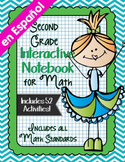 Spanish Second Grade Math Interactive Notebook Bundle