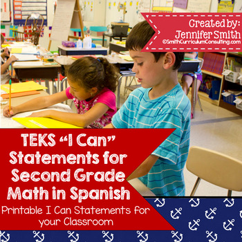 "Spanish Second Grade Math TEKS ""Yo Puedo"" Statements"