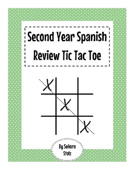 Spanish Second Year Review Tic Tac Toe