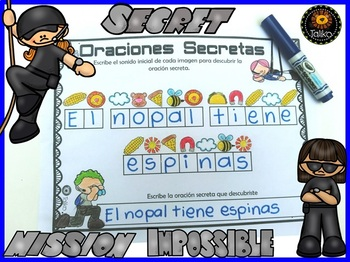 Spanish: Secret Sentences (Oraciones Secretas)