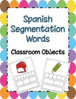 Spanish Segmentation Words-Classroom Objects