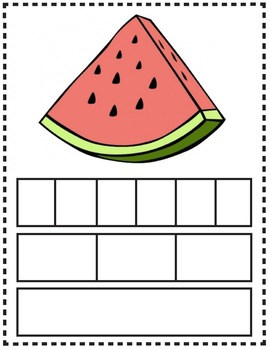 Spanish Segmentation of Words - Fruits and Vegetables
