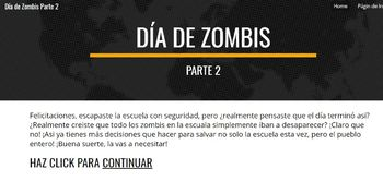 "Spanish Choose YO Adventure Digital Escape Room Game ""Zombies at School"" Part 2"
