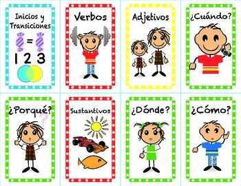 Spanish Sentence Building Cards to Expand and Create Sentences