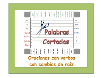 Spanish Stem-Changing Verbs Sentence Formation Practice Activity