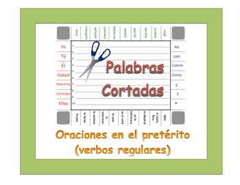 Spanish Regular Preterite Sentence Formation Practice Activity