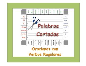 Spanish Regular Verbs (AR, ER, IR) Sentence Formation Practice Activity