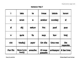 Spanish Sentence Making Tiles - Great Learning Manipulatives