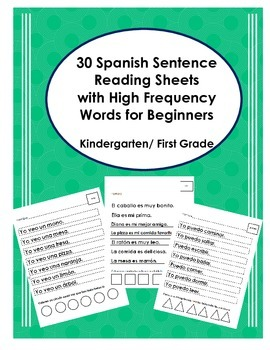 Spanish Sentence Reading with HFW for Beginners (Frases- palabras de alta frec)